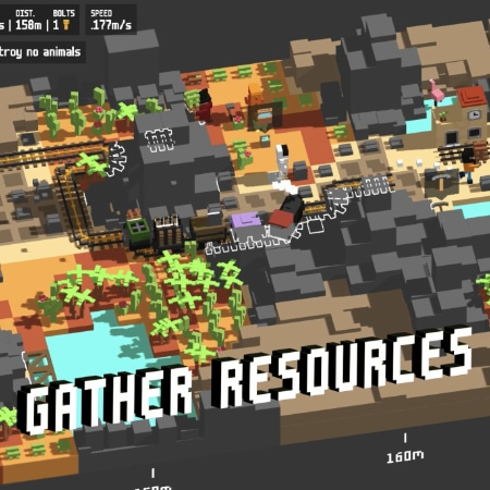 Gameplay Picture with written on Gather Ressources